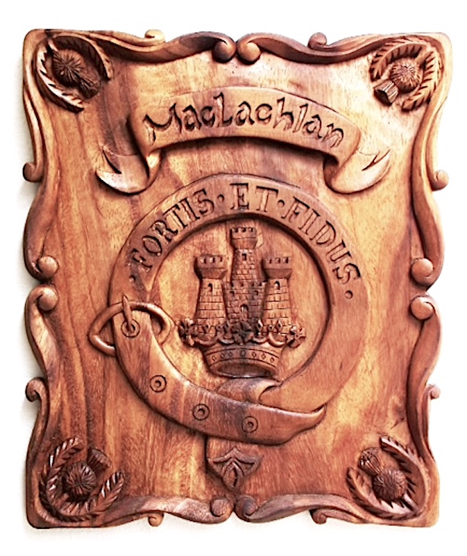 Family Crests & Emblems Carved by Richard Morgan Howell