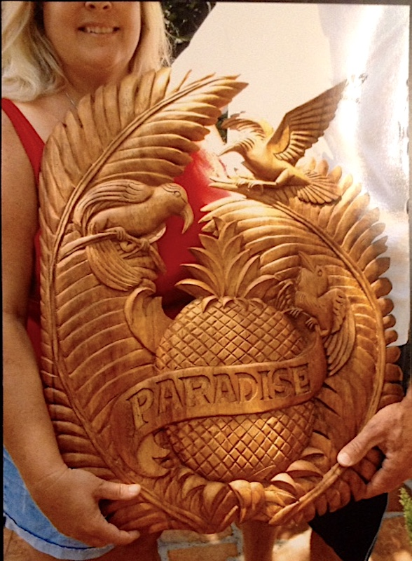 Carved Welcome Pineapples by Richard Morgan Howell