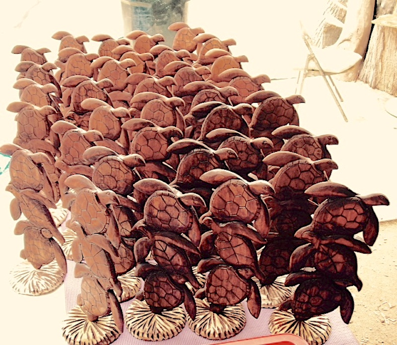 """Graduation event """" Honu"""" table gifts carved by hand from African Mahagony."""