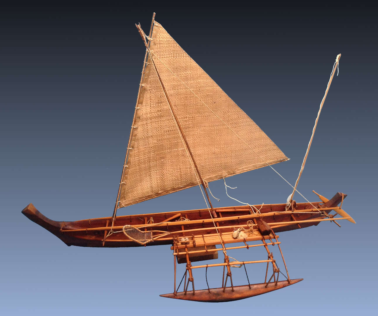Pacific Islands Canoe Models carved by Richard Morgan Howell